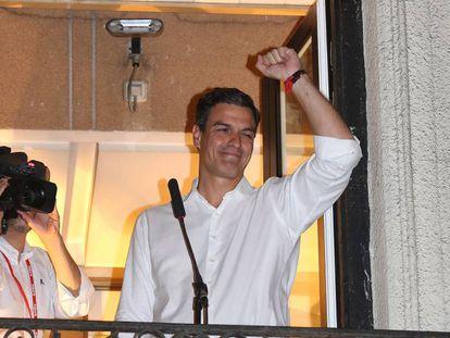 Pedro Sanchez tras las elecciones del PSOE.