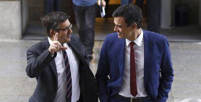 Rajoy y López este martes en el Congreso.