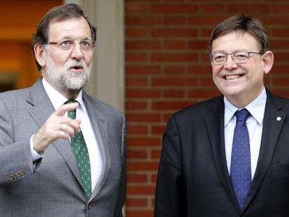 Mariano Rajoy y Ximo Puig, este lunes, en La Moncloa.