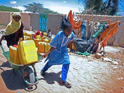 Niños refugiados en Hargeisa, la capital de Somalilandia.