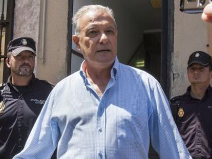 El exconsejero Ángel Ojeda, tras su detención este verano.