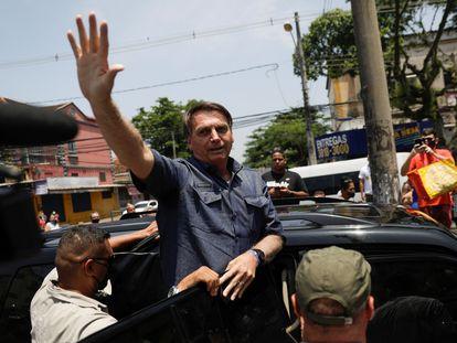 Jair Bolsonaro, este domingo tras votar en las elecciones municipales brasileñas.