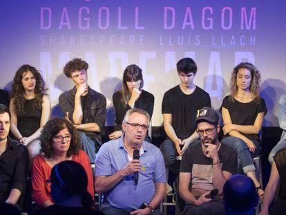 Presentación ayer del musical 'Maremar' de Dagoll Dagom, con el equipo creativo y los actores.