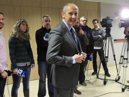 Erkoreka, en su comparecencia en Bilbao.