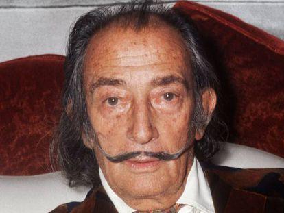 El artista Salvador Dalí fotografiado en 1972.