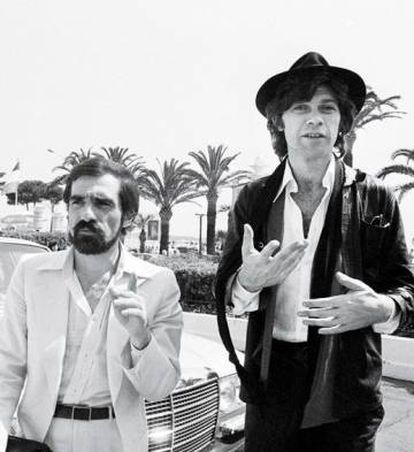 Martin Scorsese y Robbie Robertson, en el Festival de Cannes en 1978.