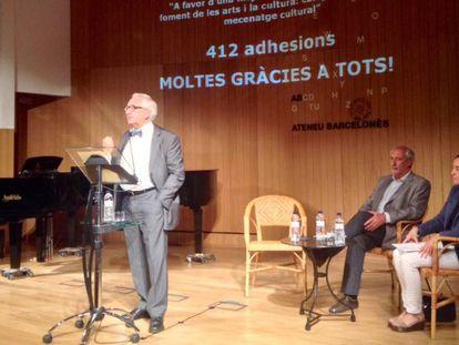 Carles Duarte durante su intervención en el acto de este martes.