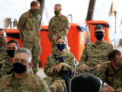 Soldados estadounidenses en la base militar de Taji, en el norte de Bagdad (Irak), en una imagen de agosto de 2020.