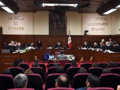 La Suprema Corte de Justicia de la Nación, en 2019.
