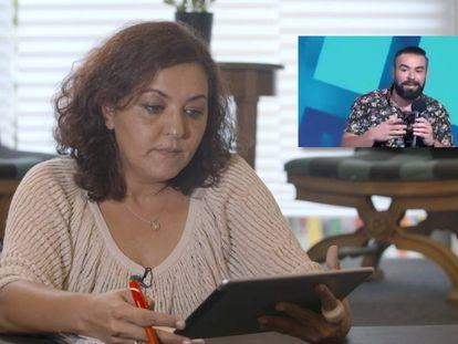 Celia Montoya, de la Plataforma Khetane, que engloba distintas asociaciones gitanas, ve el monólogo de Rober Bodegas sobre los gitanos. En vídeo, reportaje de las reacciones al monólogo.