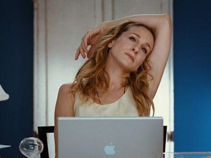 Carrie Bradshaw en Sexo en Nueva York.