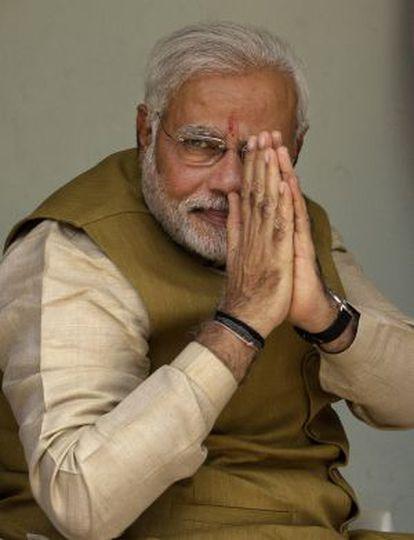 Modi saluda a sus seguidores, en mayo pasado.