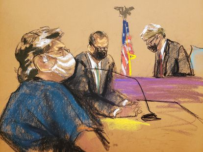 Keith Raniere escucha la sentencia, este martes en Nueva York.