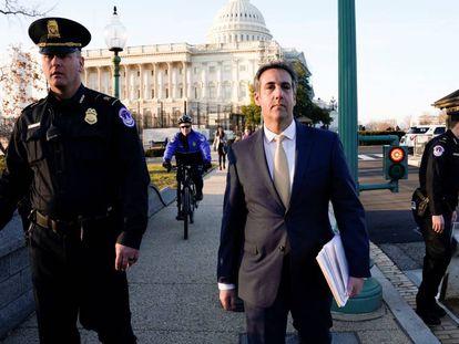 Michael Cohen, tras su declaración en el Capitolio.