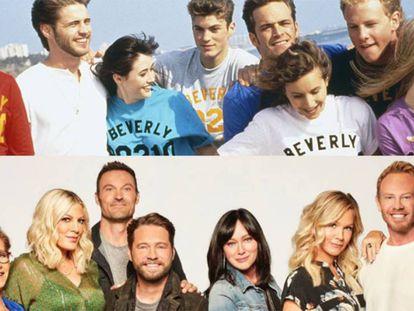 Los protagonistas de la serie 'Sensación de Vivir', en 1990 y en 2019. En vídeo, tráiler de 'Sensación de vivir'.