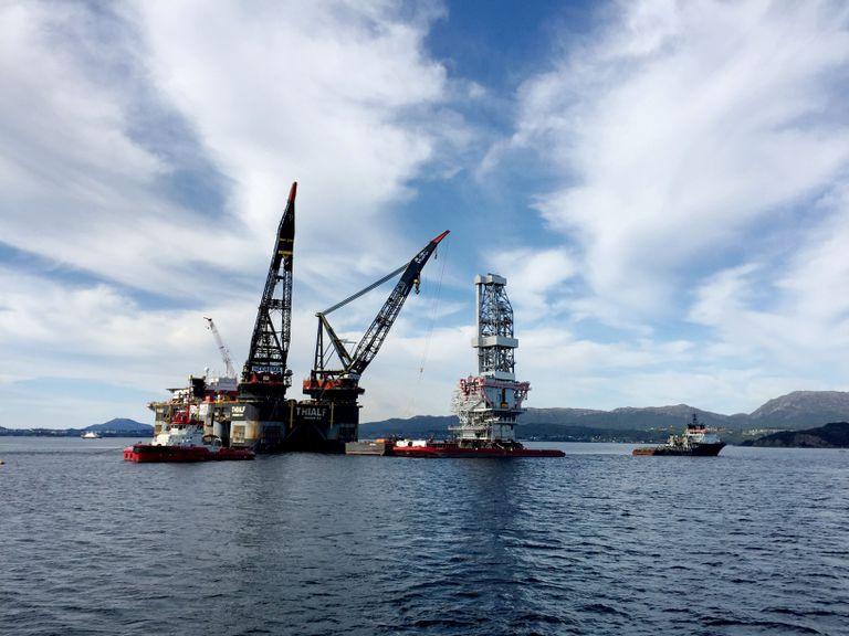 Vista de una plataforma petrolera en Stord (oeste de Noruega).