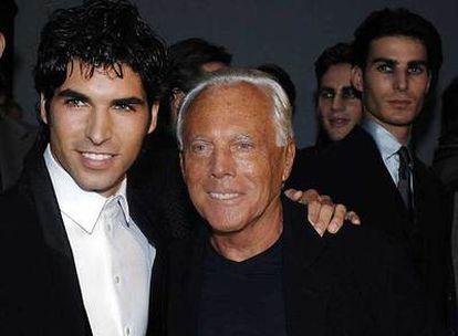 Cayetano Rivera y Giorgio Armani, en Milán este año.