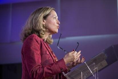 La vicepresidenta segunda del Gobierno y ministra de Asuntos Económicos, Nadia Calviño.