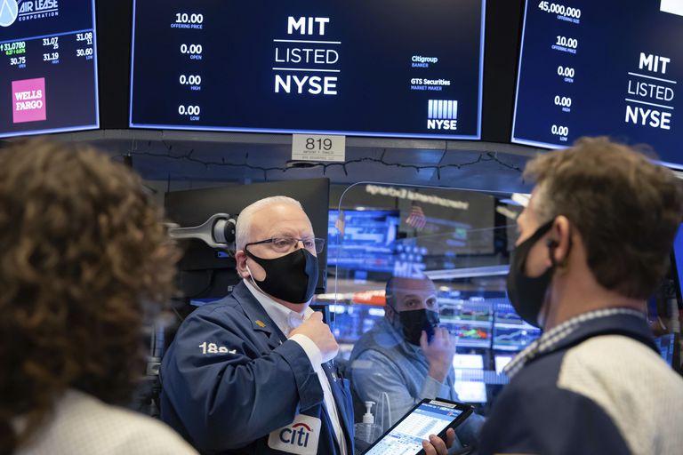 Wall Street traders, last Friday.