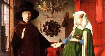 La obra 'Matrimonio Arnolfini' de Jan Van Eyck.