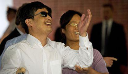 El disidente Chen Guangcheng, a su llegada a Nueva York.