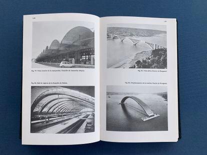 Inside pages of the biography 'Eugène Freyssinet', by José Antonio Fernández Ordóñez.