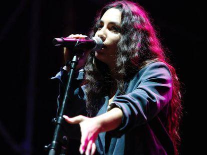 María José Llergo, durante una actuación en Barcelona en 2019.