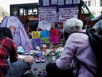 Memorial de Fátima, la niña de 7 años asesinada en México.