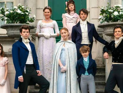 La familia protagonista de la serie 'Los Bridgerton' de Netflix.