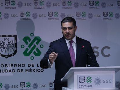 Omar García Harfuch, secretario de Seguridad de Ciudad de México, durante una conferencia de prensa en octubre.