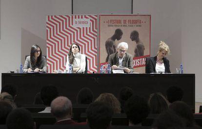Desde la izquierda, Emma Ingala, Ana Carrasco Conde, Basilio Baltasar y Patricia Soley-Beltrán, el sábado.