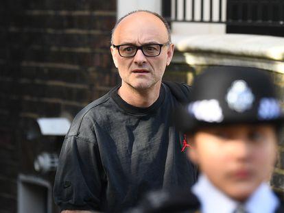 Dominic Cummings, asesor de Boris Johnson, abandona este jueves su residencia en Londres.
