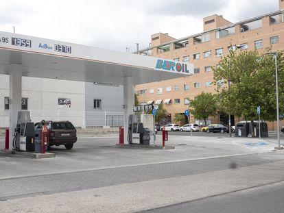 Gasolinera en el barrio de San Blas, en Madrid.
