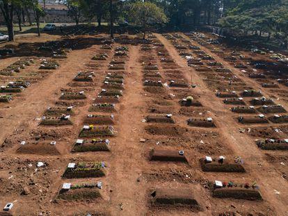 Un cementerio en Vila Formosa, São Paulo, el pasado 6 de agosto.