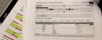Imagen del manual para los transcriptores de audios de Apple