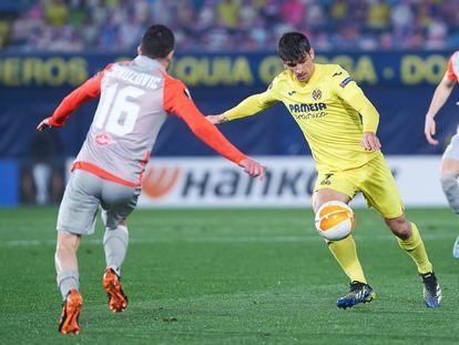 Gerard Moreno, en una imagen del partido del Villarreal ante el Salzburgo.