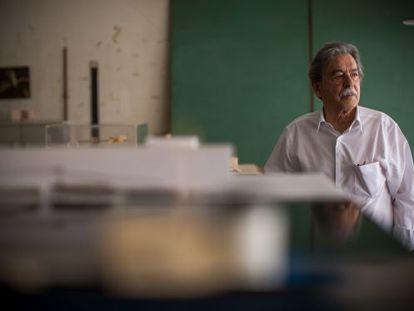 Paulo Mendes da Rocha, en su oficina en São Paulo, en 2015.