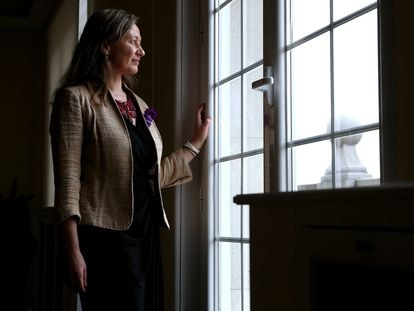 Victoria Rosell, delegada del Gobierno contra la Violencia de Género, en una imagen del año pasado en el Ministerio de Igualdad.