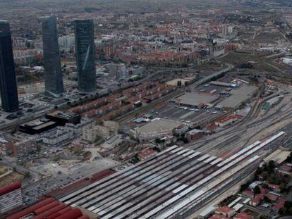 Vista aérea de los terrenos del desarrollo urbanístico Madrid Nuevo Norte, en una imagen de 2019.
