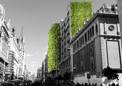 Representación del proyecto Madrid+Natural del estudio ARUP.