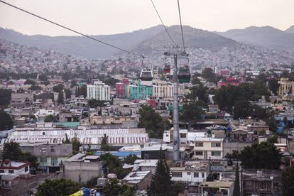 Vista panorámica desde el teleférico de Ecatepec.