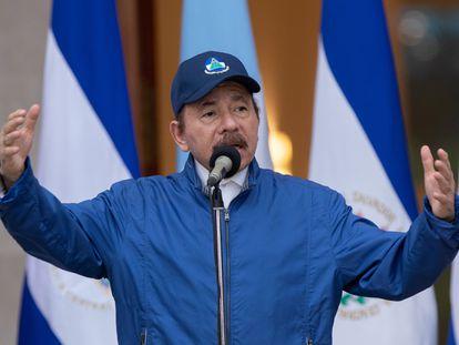El presidente de Nicaragua, Daniel Ortega, ofrece un discurso en septiembre de 2020.