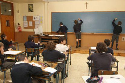 Clase de sexto de primaria del colegio masculino Erain de Irún.
