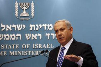 Netanyahu durante el anuncio de elecciones anticipadas.