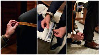 La toma de medidas de un traje se puede hacer en la tienda o en la casa u oficina del cliente. Existen más de 250 tejidos entre los que elegir para confeccionar una camisa. Para lograr el bajo perfecto, se recomienda al cliente que se tome las medias con el estilo de zapatos que usa habitualmente.