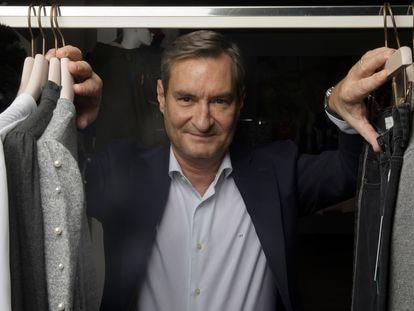 Jaume Miquel, presidente de Tendam, en el 'showroom' del grupo en Madrid, el pasado jueves.