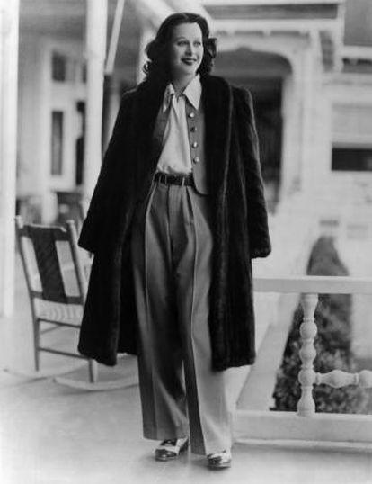 La actriz Hedy Lamarr en 1938.