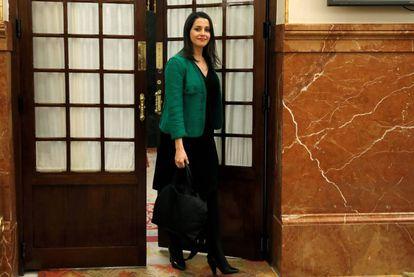 La portavoz parlamentaria de Ciudadanos, Inés Arrimadas.