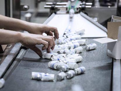 Producción de antibióticos en una planta de Saransk, en Rusia.