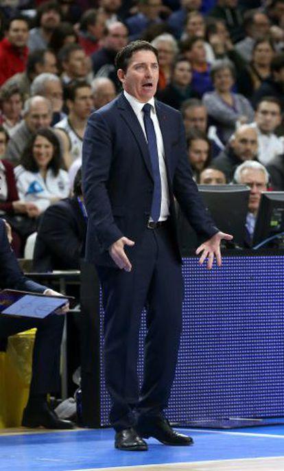 Pascual, en el partido Madrid-Barça.